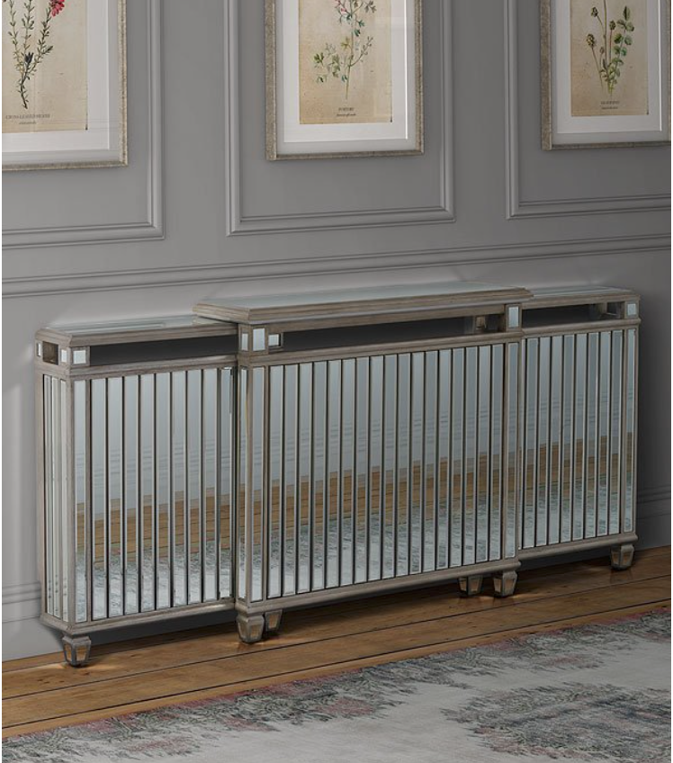 Adjustable 'Antoinette' mirrored radiator cover from My Furniture, £249.99