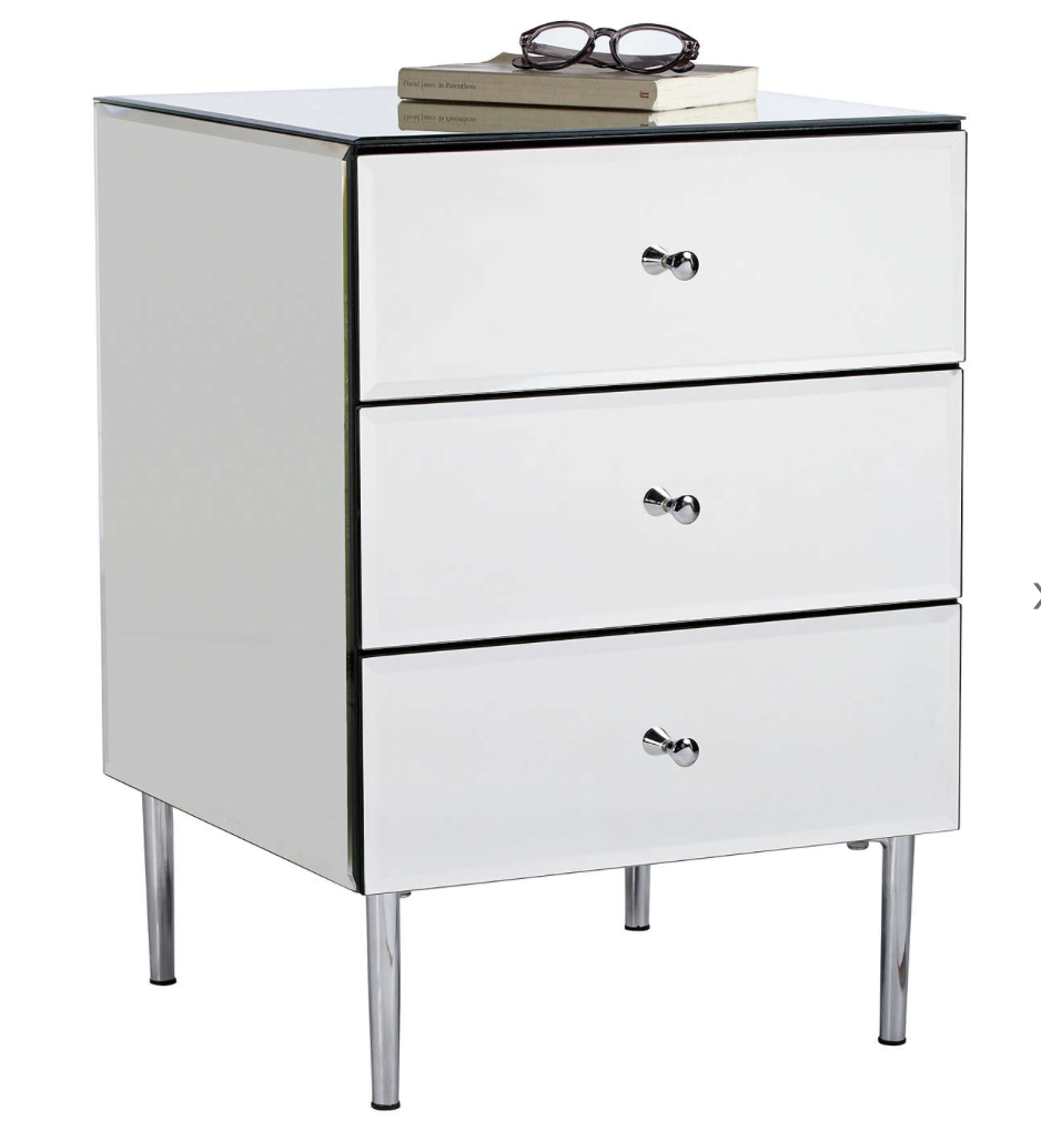 The 'Alexia' 3-drawer bedside table from John Lewis, £250.