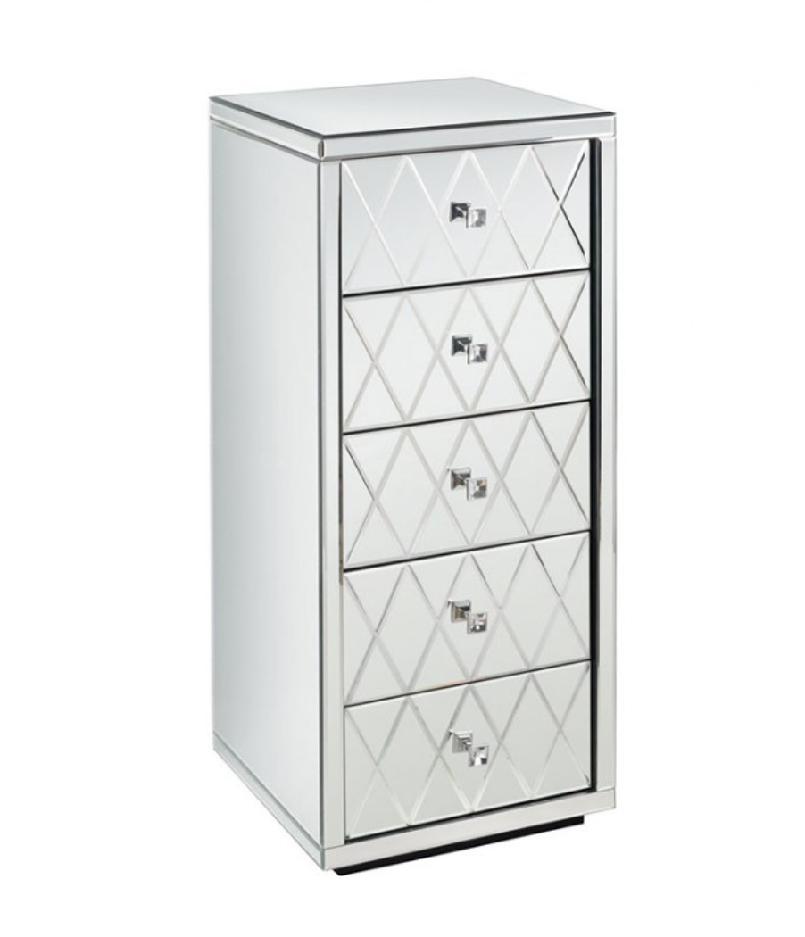 The 'Knightsbridge' 5-drawer mirrored tallboy from My Furniture, £279.99.