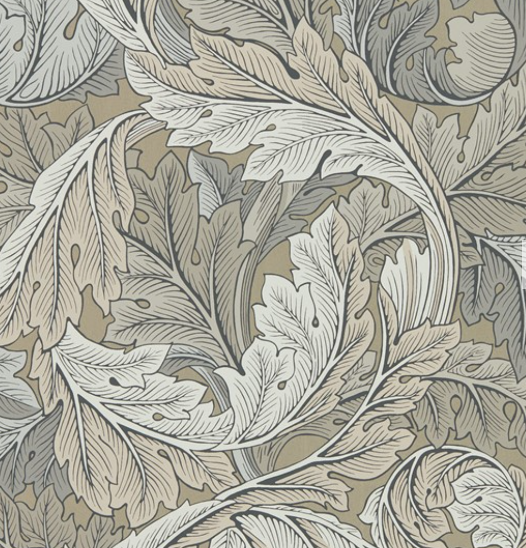 The 'Acanthus' print from the William Morris Archive IV collection. The very first wallpaper released as Morris & Co.