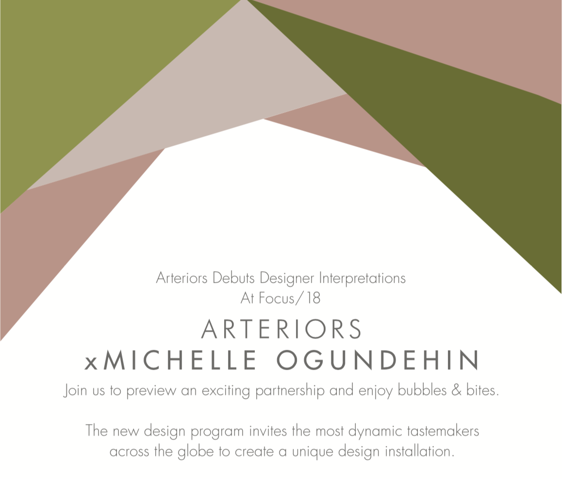 Arteriors x Michelle Ogundehin at Chelsea Harbour Design Centre for Focus 18