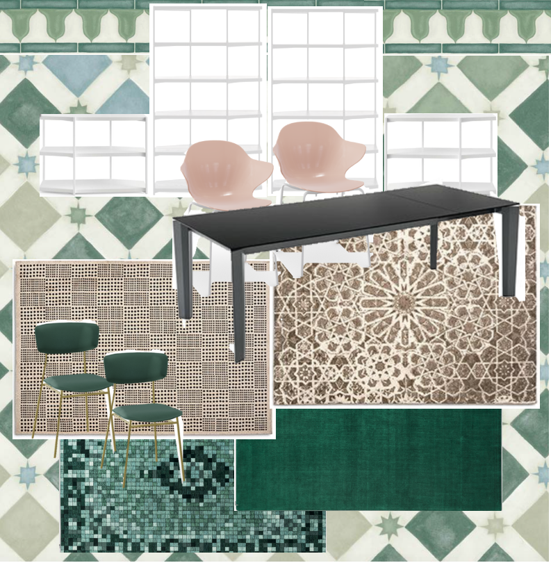 Moodboard for one part of my proposal to re-style the new Calligaris Tottenham Court Road showroom.