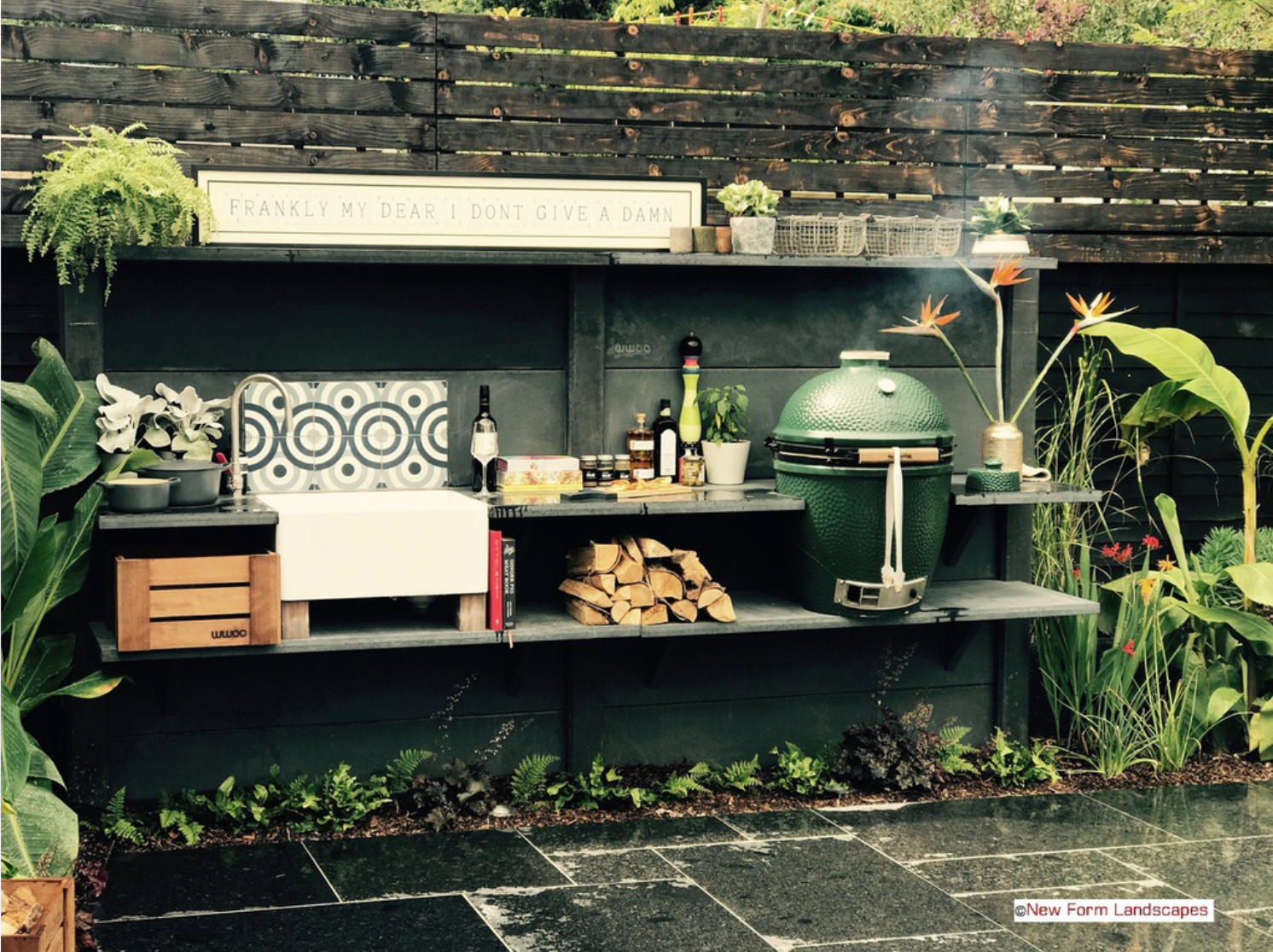 A WWOO completely customisable concrete outdoor kitchen. See newformlandscapes.co.uk for more information.