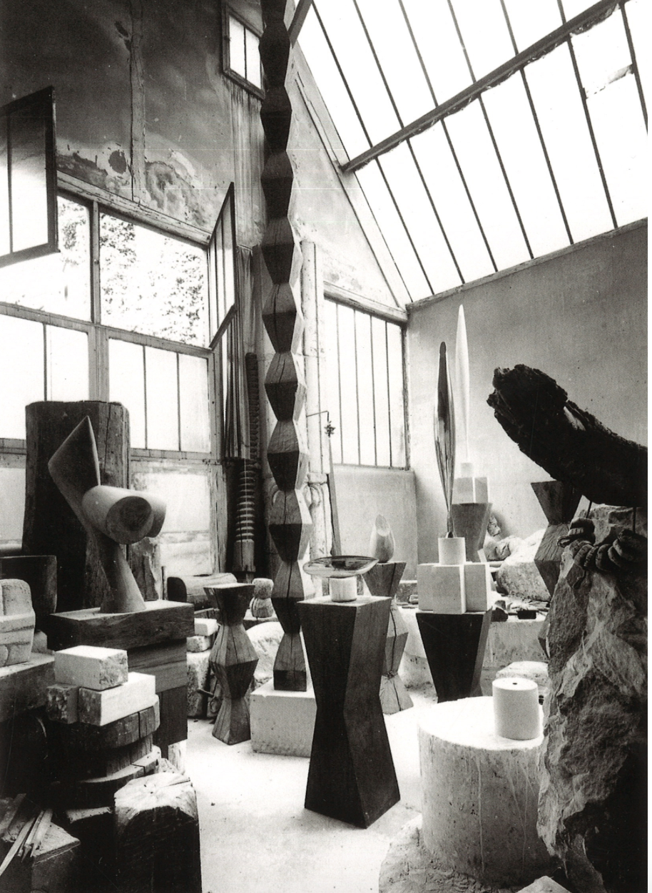 The Parisian atelier of the sculptor Brancusi.