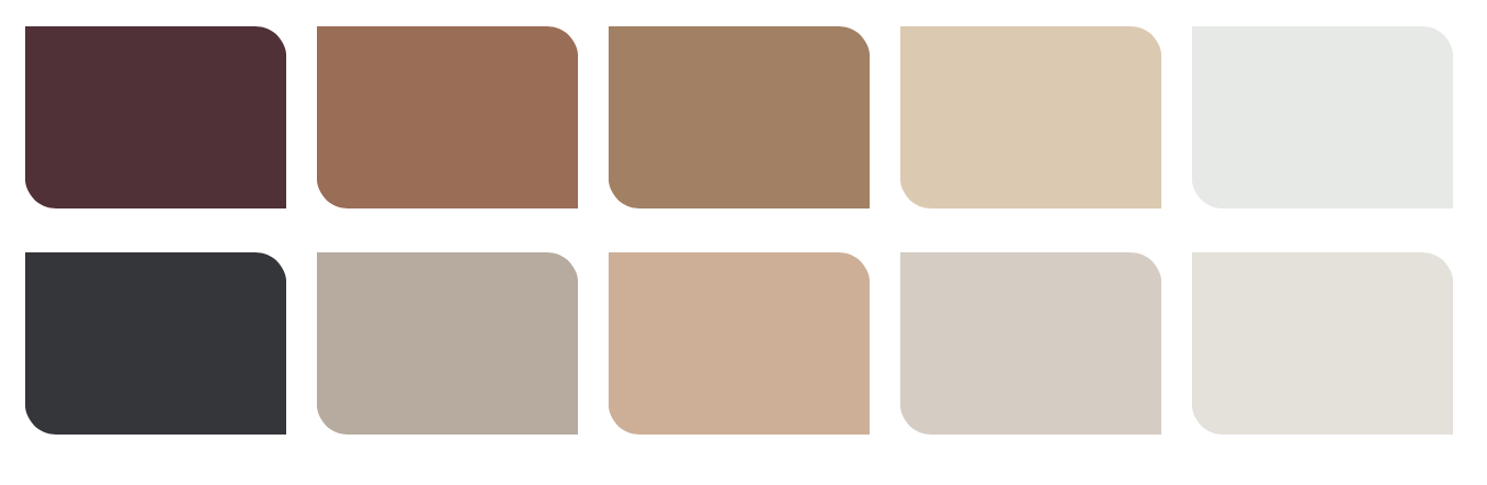 The Dulux 'Warm Neutrals' palette featuring COTY, 'Spiced Honey'