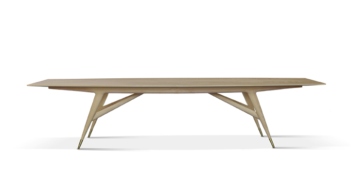 Gio Ponti's D8591 dining table, first designed for the Time Life Building
