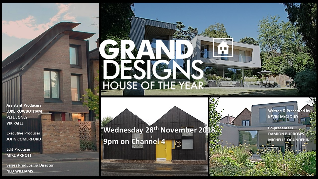 The transmission card for Episode Four of Grand Designs: House of the Year 2018