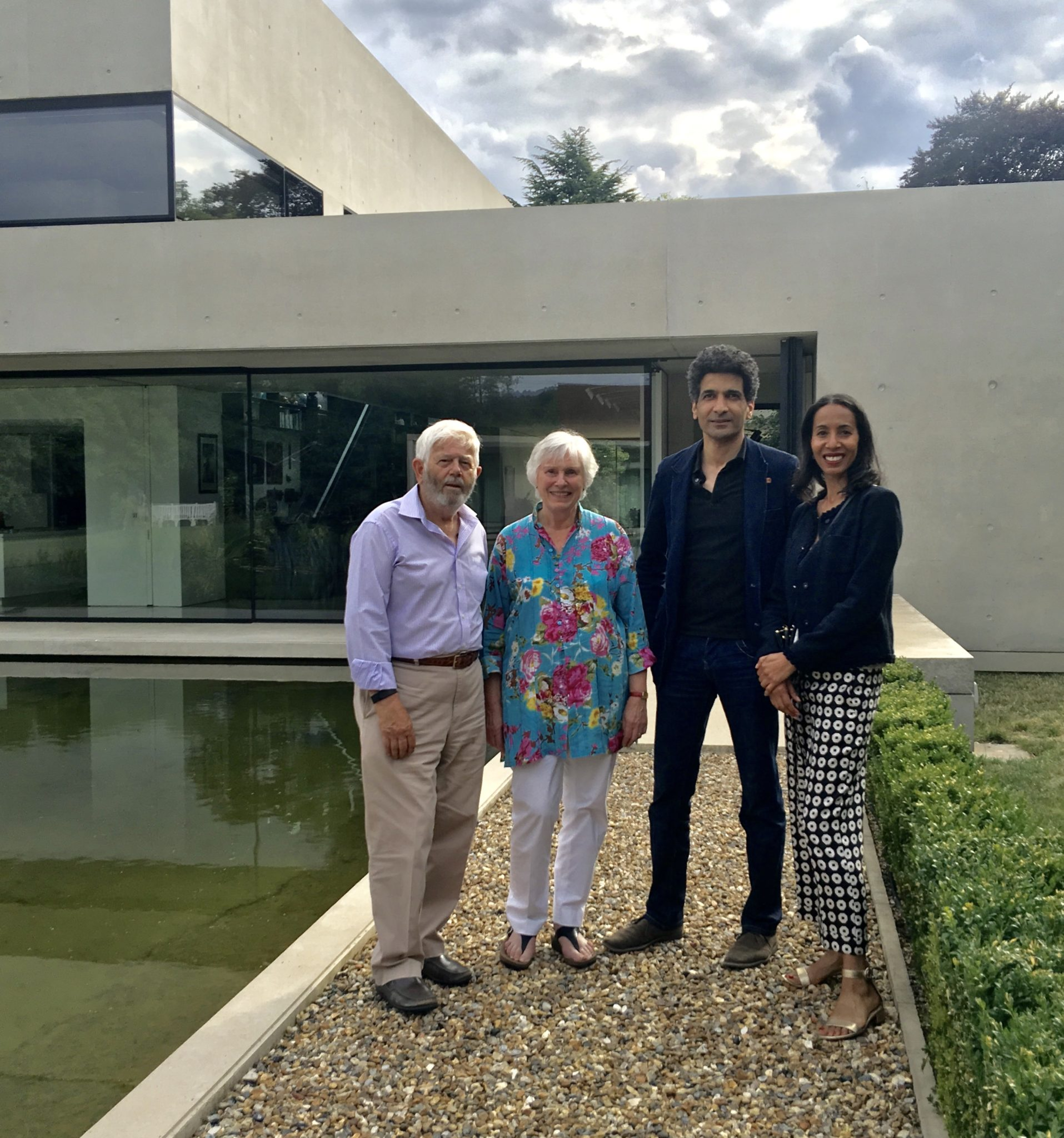 The owners and architect, Amin Taha, of Pheasants House. Shortlisted for the RIBA House of the Year 2018.