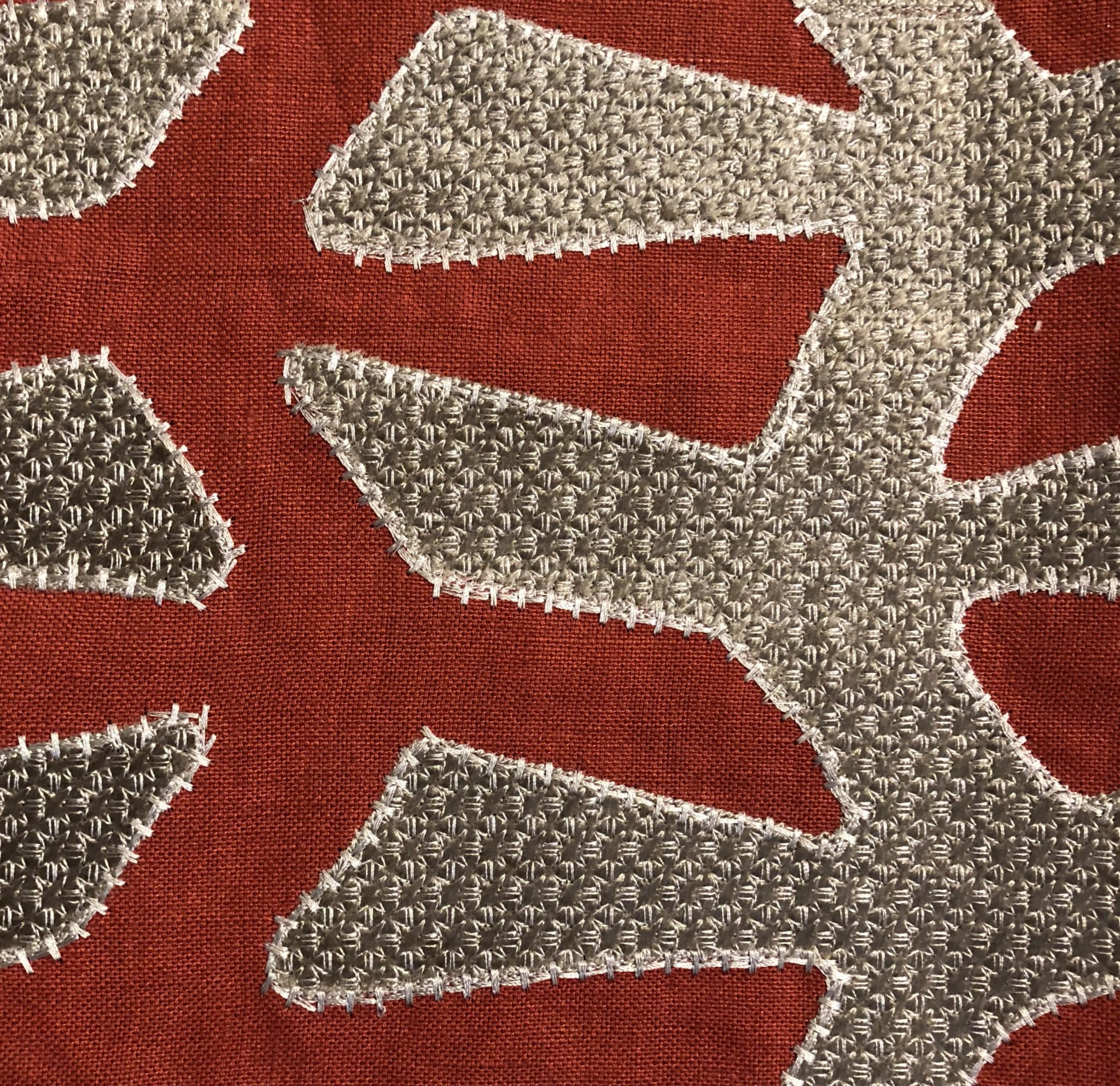Detail of 'Verdi Applique' (333015 Venetian) from the Icons Collection at Zoffany