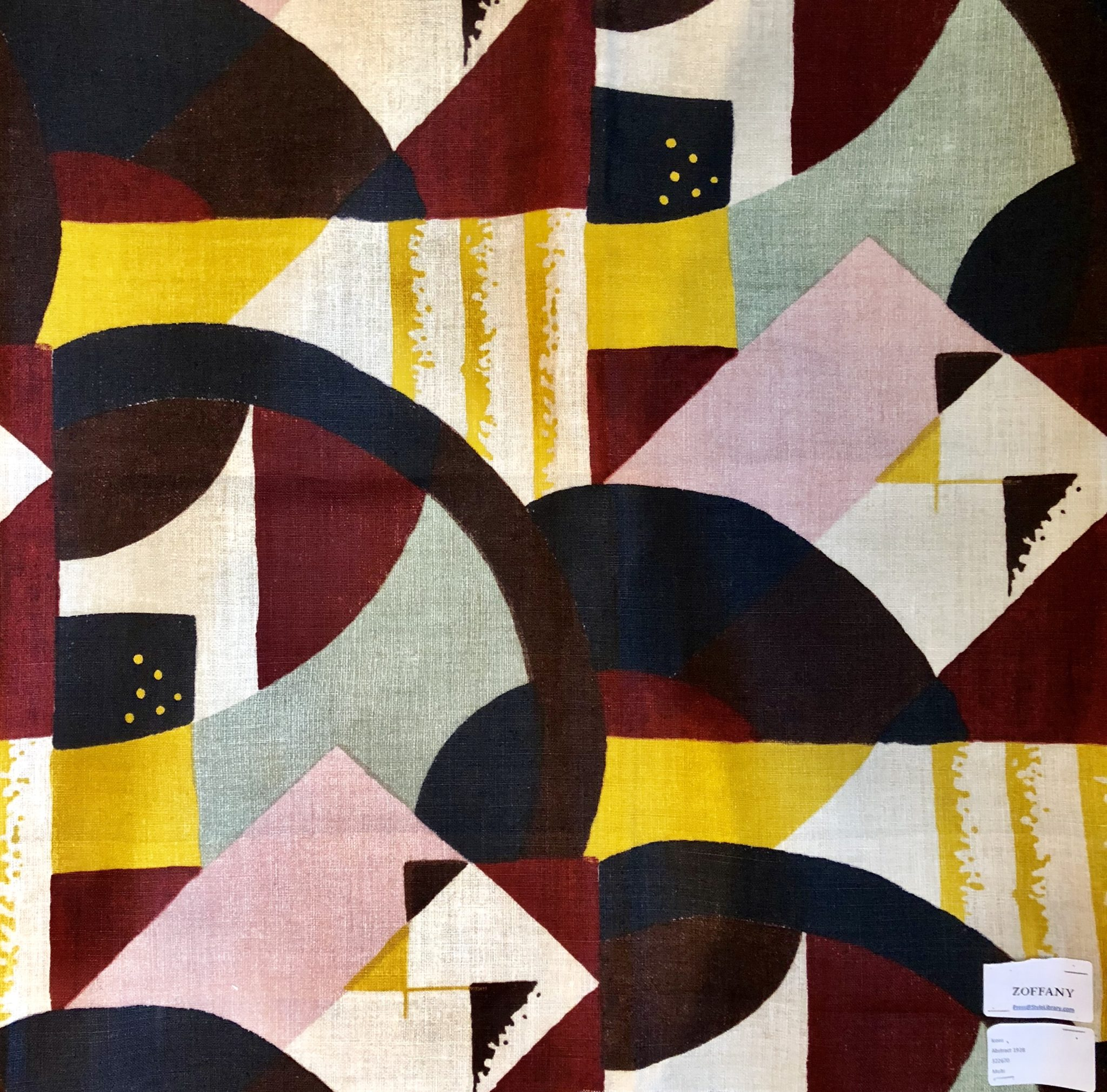 'Abstract 1928' fabric (322670) from the Icons Collection at Zoffany