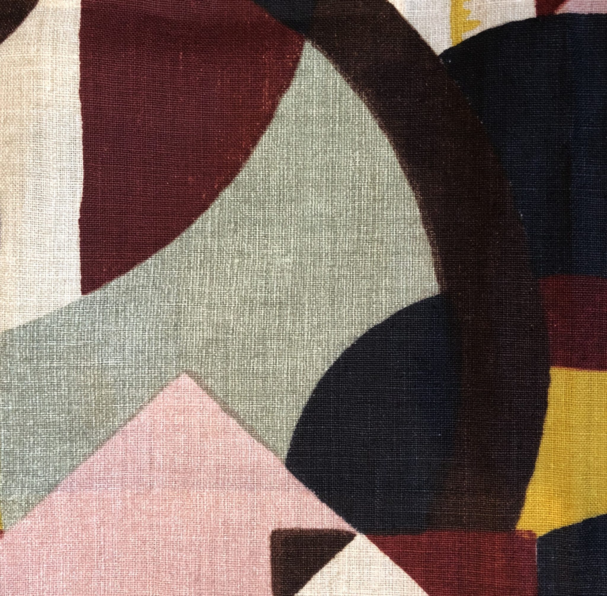 Detail of 'Abstract 1928' fabric (322670) from the Icons Collection at Zoffany