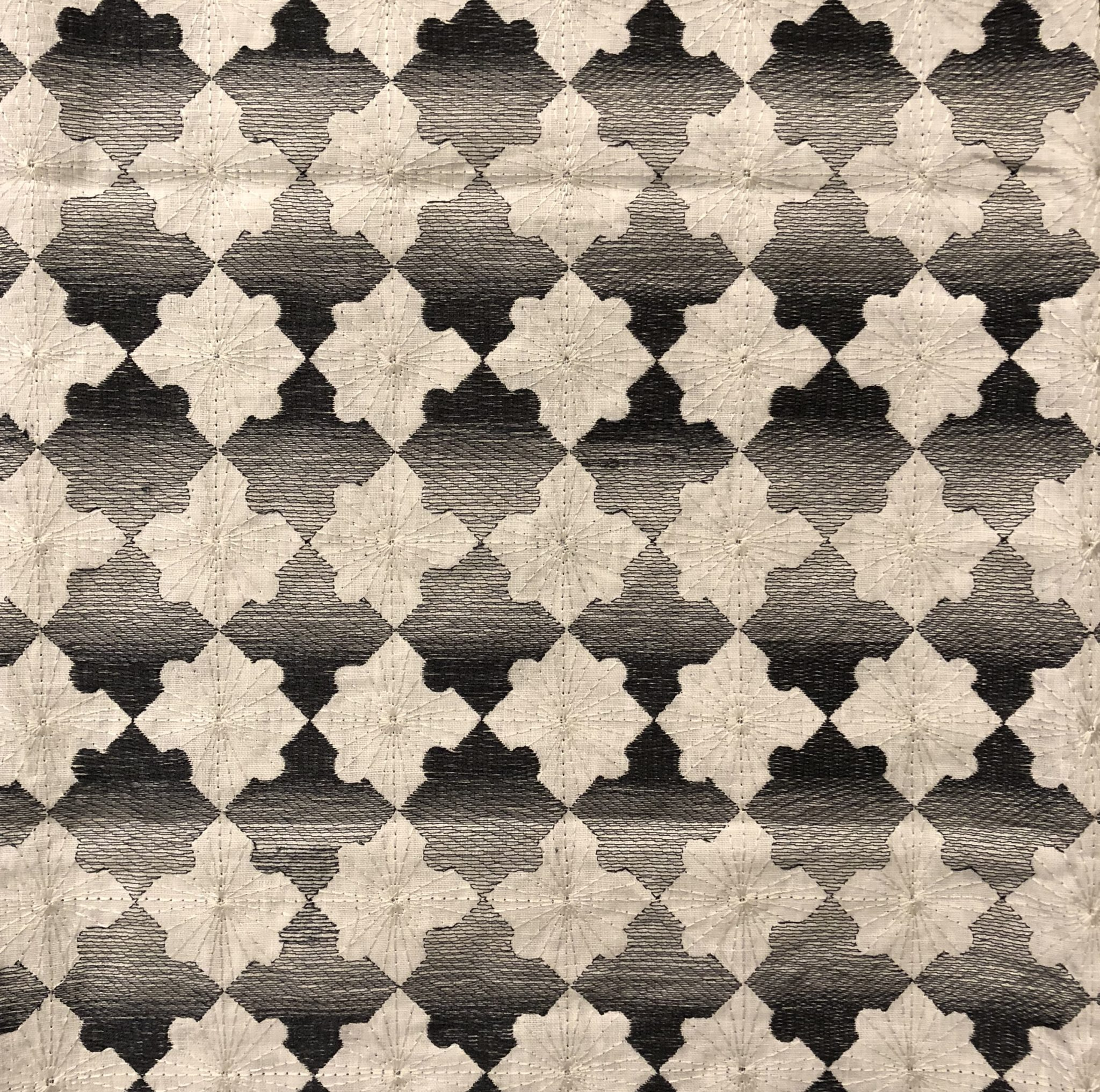 'Patchwork Marquetry' (83-251) in 100% linen from the David Collins Studio Collection for Baker