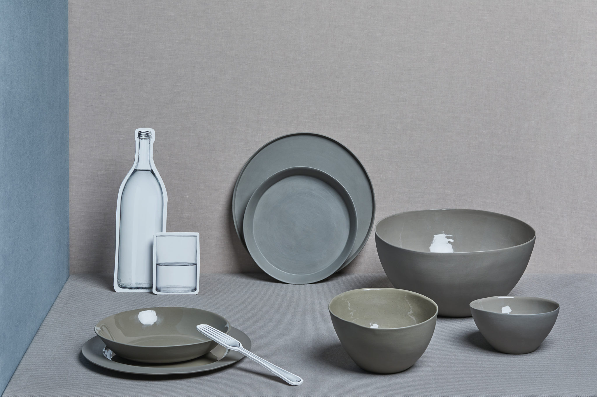 Society Limonta porcelain tableware in smoky grey. Bowls from £55