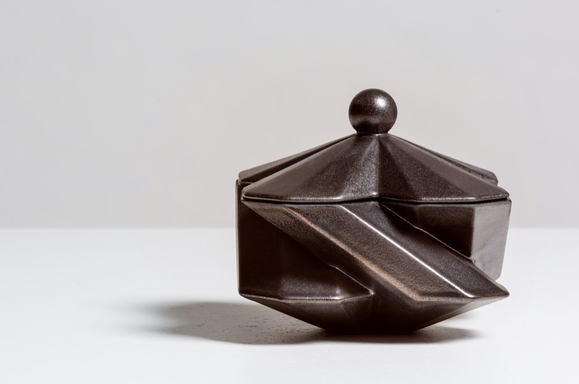 'Fortress Treasury Box' by Lara Bohinc. Hand-crafted in ceramic with a bronze finish. £196