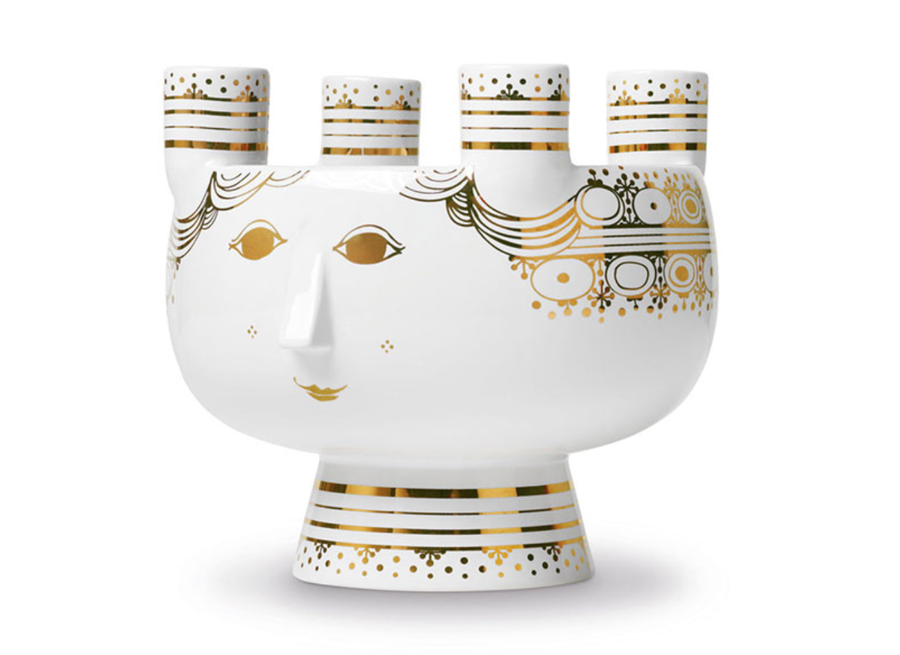 The 'Lucia' ceramic Advent candle holder and bowl, designed by Bjorn Winblad