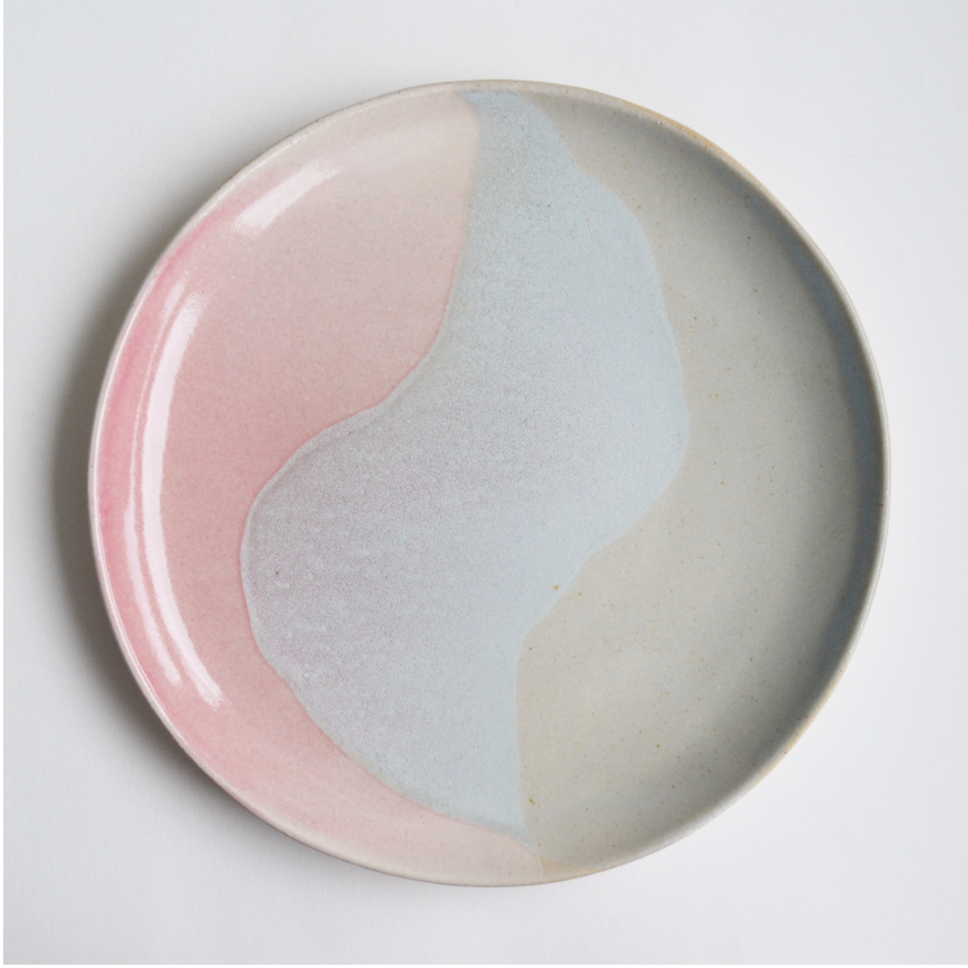 One of a series of ceramic plate designed by Lucia Fraser, £18- £32 depending on size and glazes.