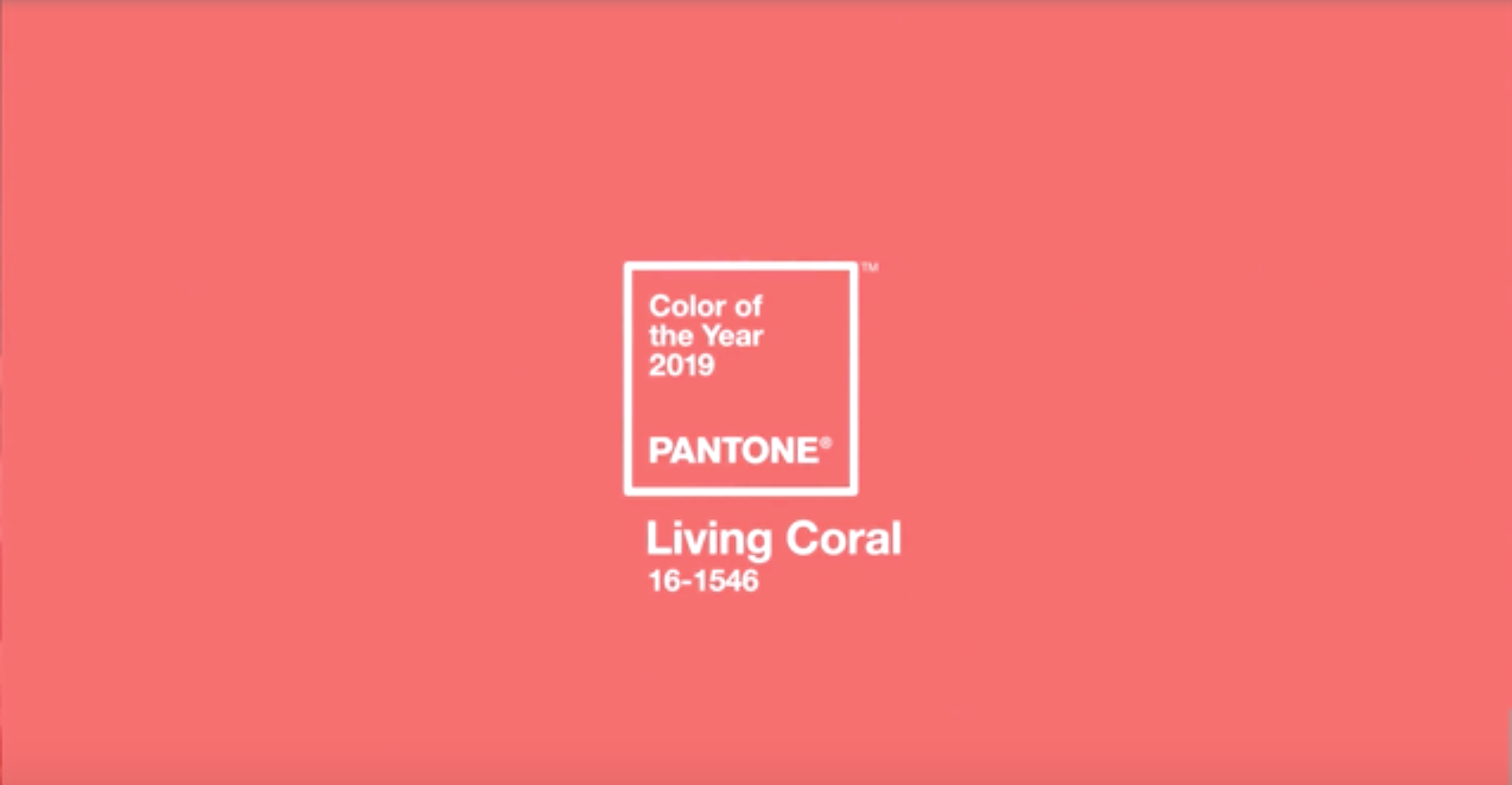 Living Coral: Pantone's Colour of the Year 2019