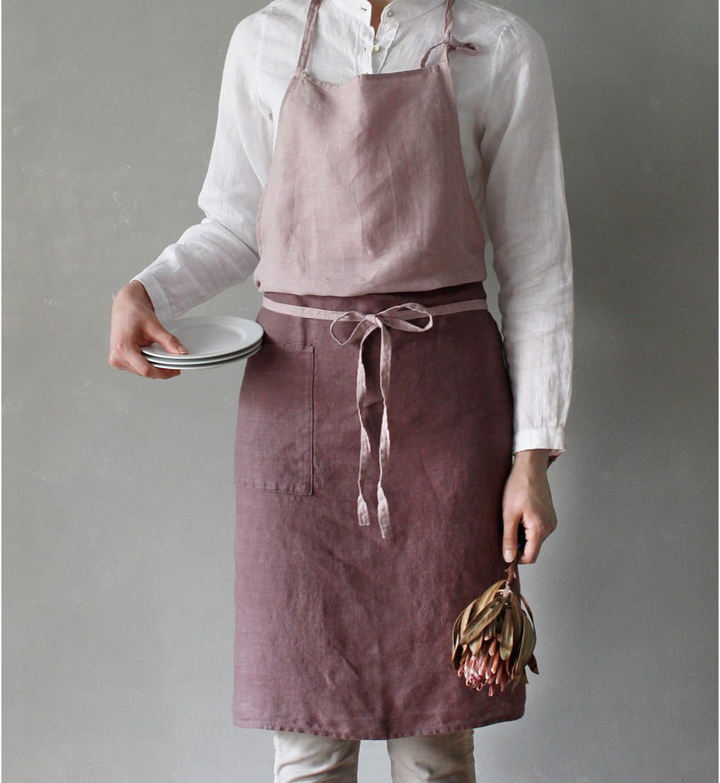 100% linen apron, £60 from Larusi