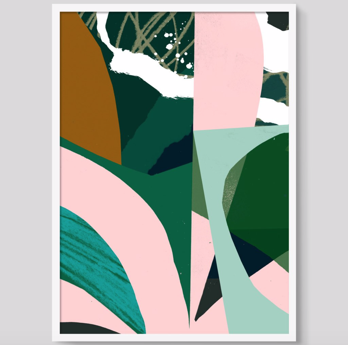 'Pink Plant' print by Tom Abiss Smith from Unlimited, £25