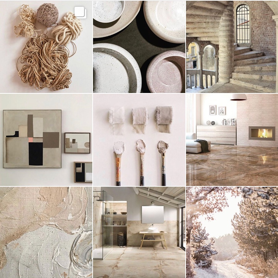 Trend report 2019 Natural texture @michelleogundehin Instagram moodboard