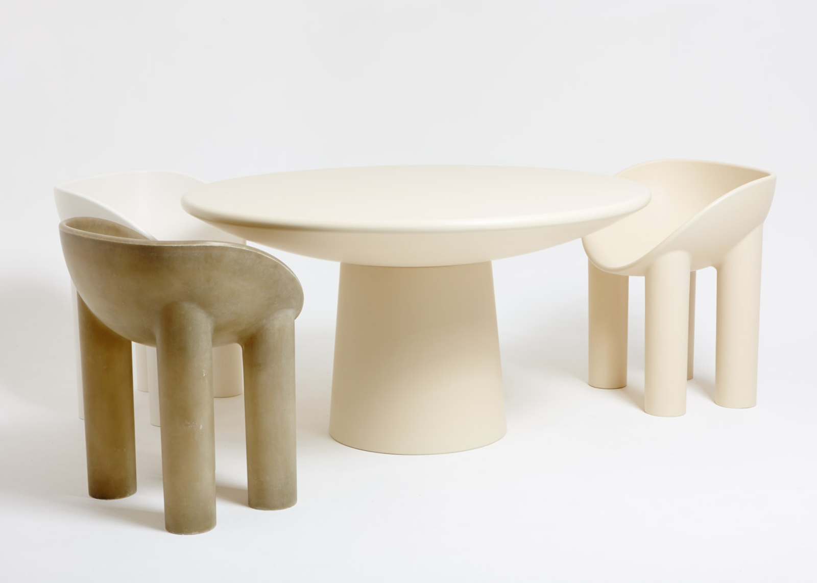 The 'Roly Poly' dining chair and table by Faye Toogood. Part of what I've dubbed the Modern Primitive movement.