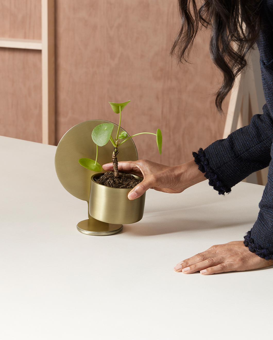 The 'Vases Mes Petities' in solid brass from my made.com curation
