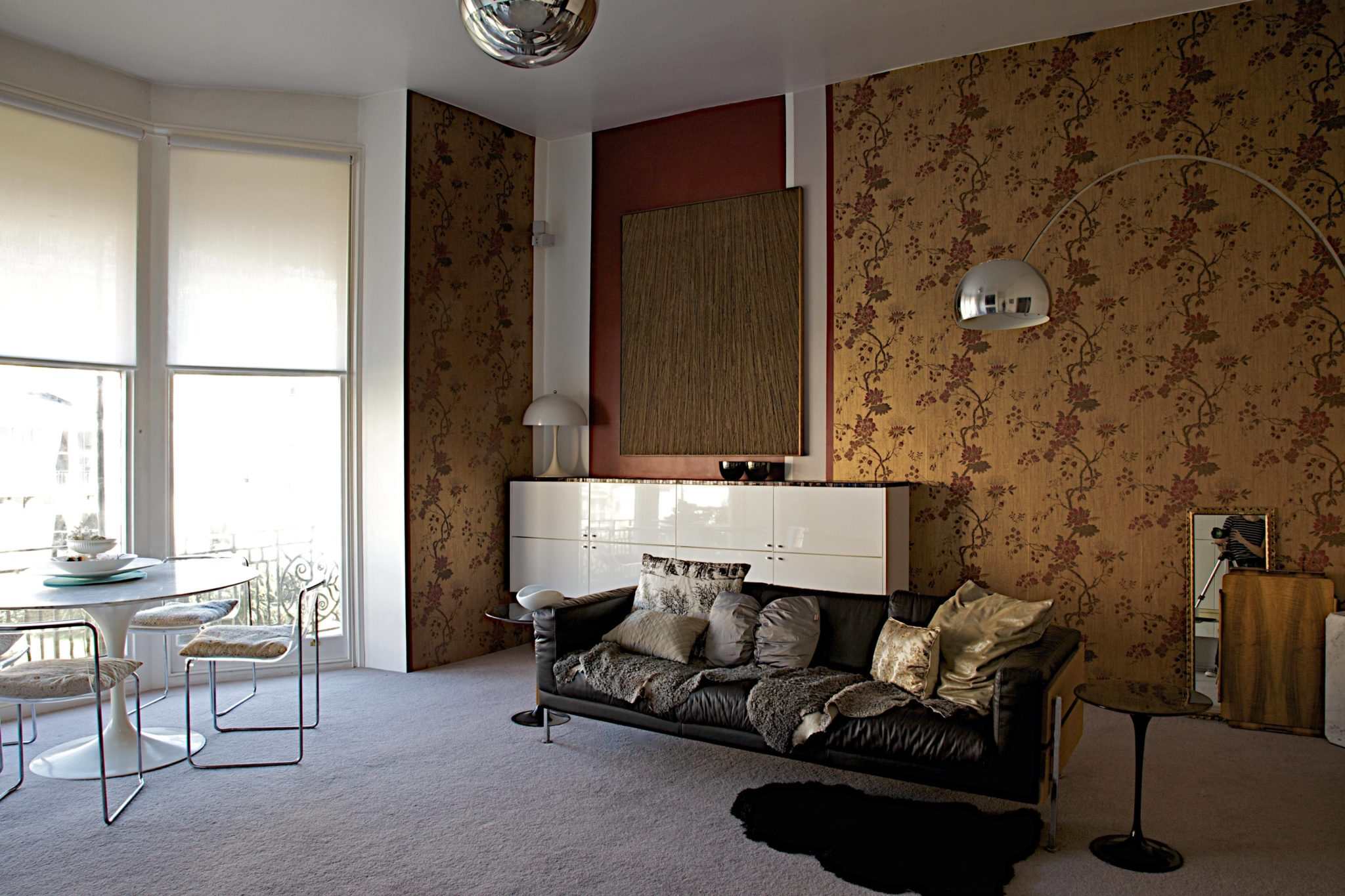 Brighton living room, after... the Robin Day sofa, back out of starge and into pole position!