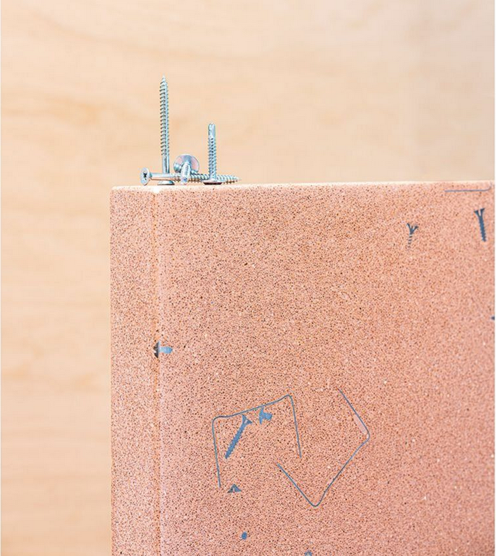 London-based architects APT collaborate with Mallorcan tile maker Huguet on a terrazzo-type material made from construction waste.