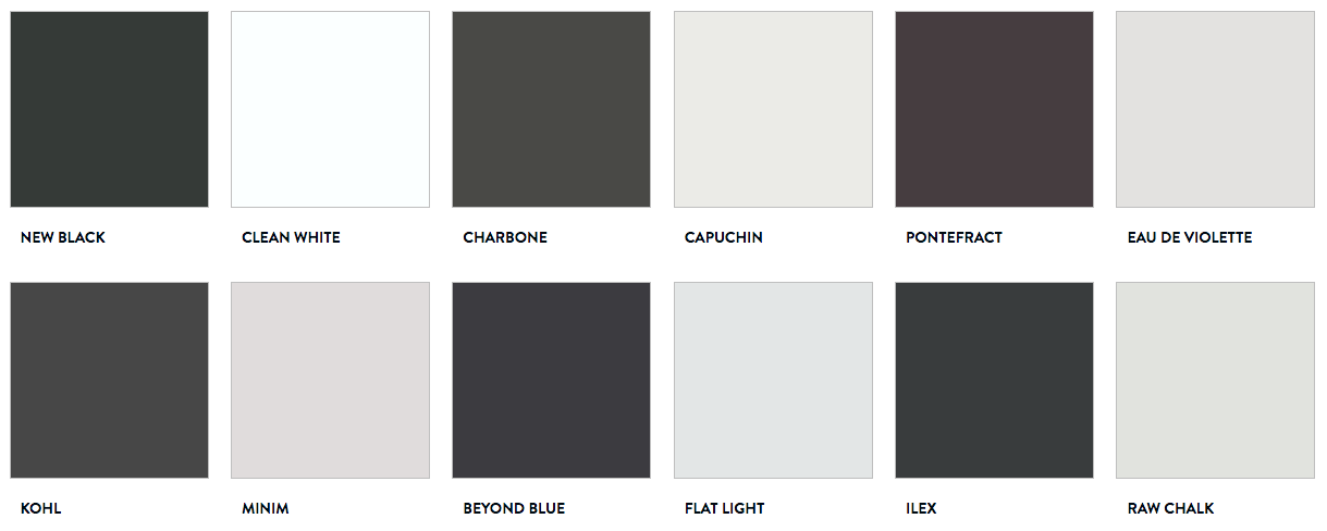A set of six pairs of blacks and whites, each with a unique undertone, launched by Paint & Paper Library in September 2019