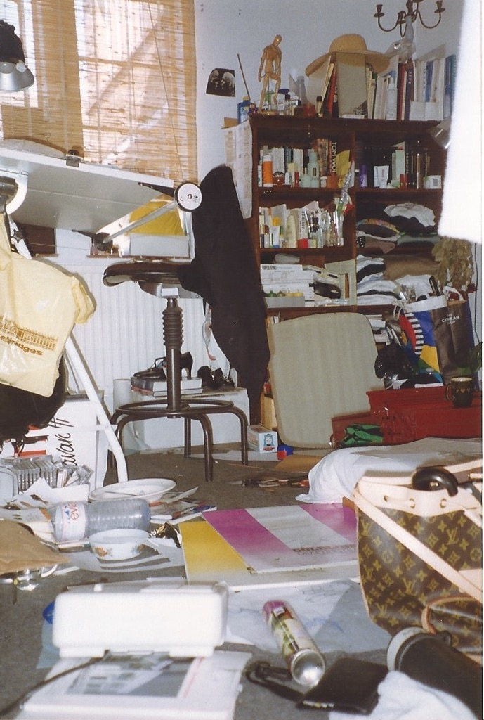 Stoke Newington, my room the day before a presentation.