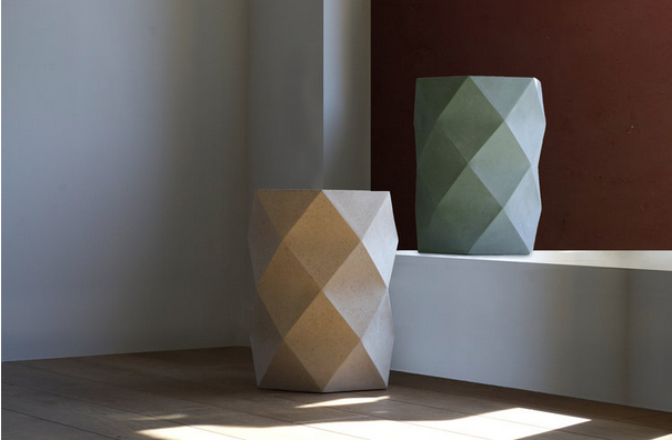 Origami-inspired objects made from tea waste by Dust London